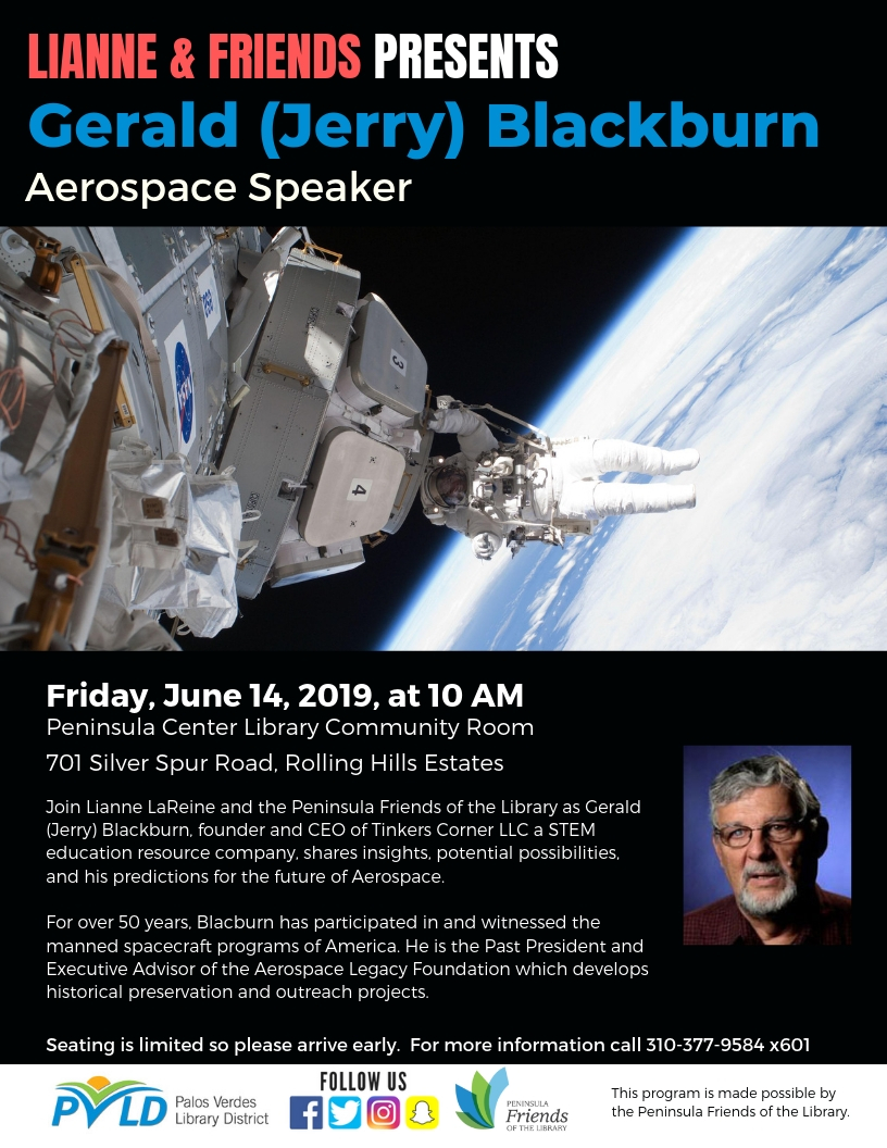 Come Fly With Me… - Presentation at the Peninsula Center Library June 14, 2019