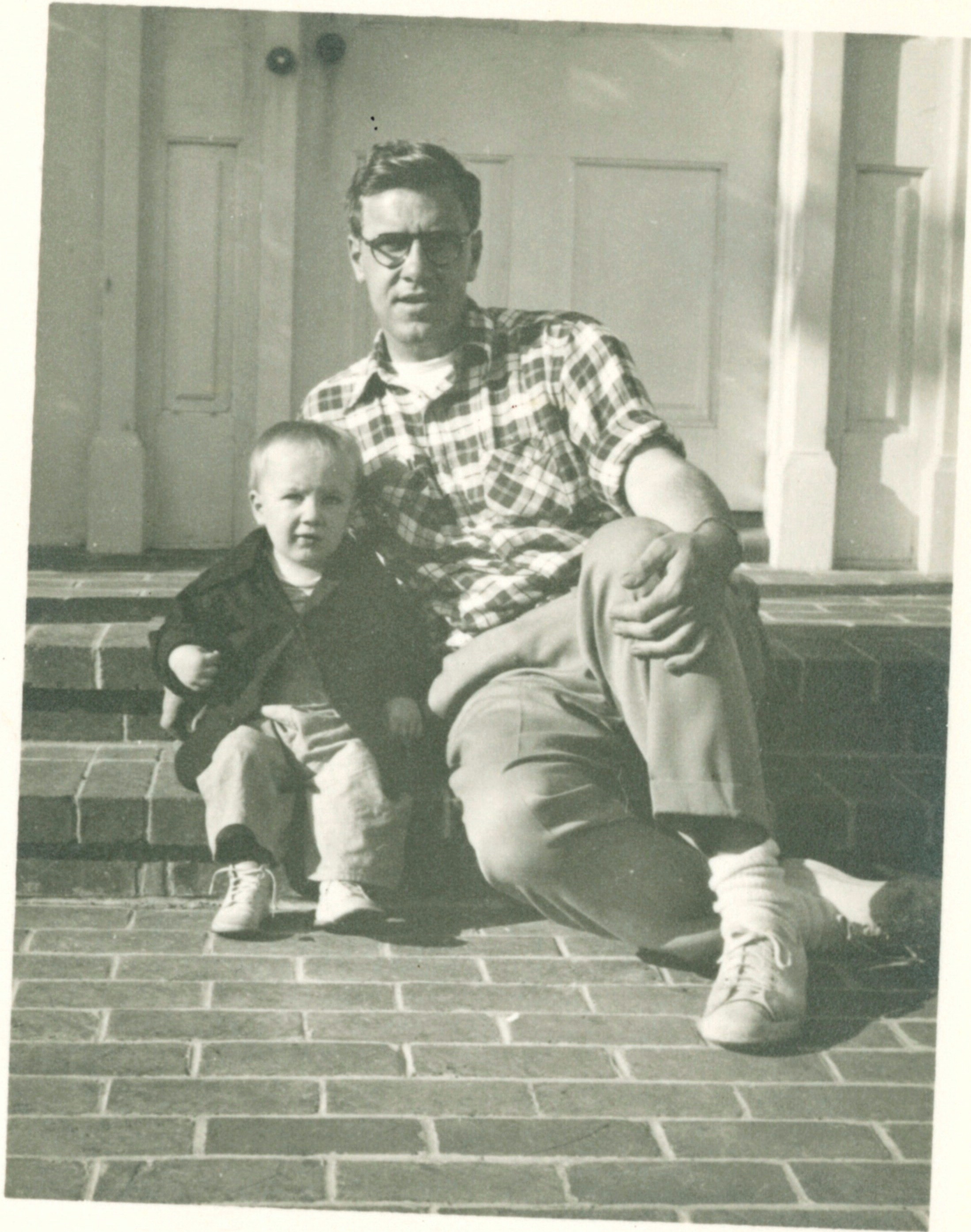 With my father at 3405 Via Palomino in 1950