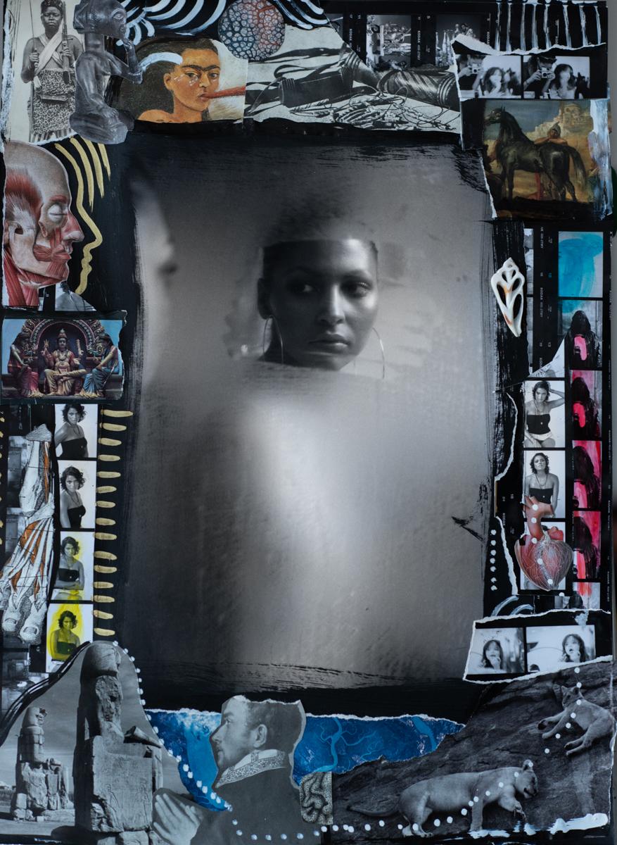 Melinda & the Mirror 2012 by Delphine Diallo