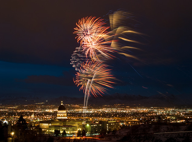 Fireworks are beautiful, but their loud noises scare pets and make them more likely to run away in fear. Photo by Mamas-Spot.com.