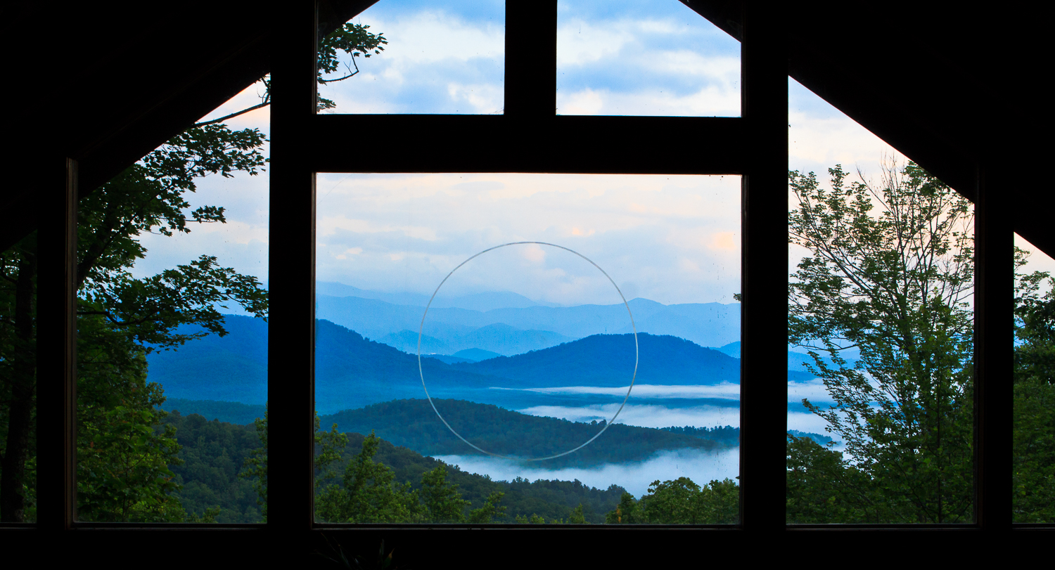 View from Tao Mountain Sanctuary Window, 2012  Photography by Mela