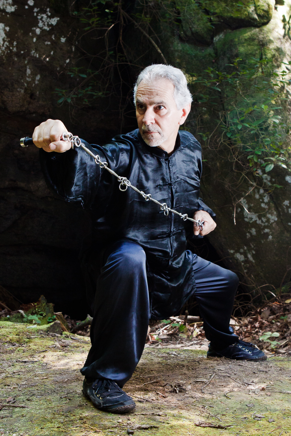 Sifu Paolillo with chain whip, 2012