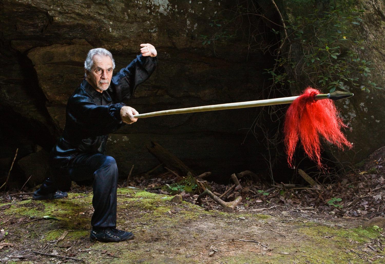 Sifu Paolillo with spear, 2012