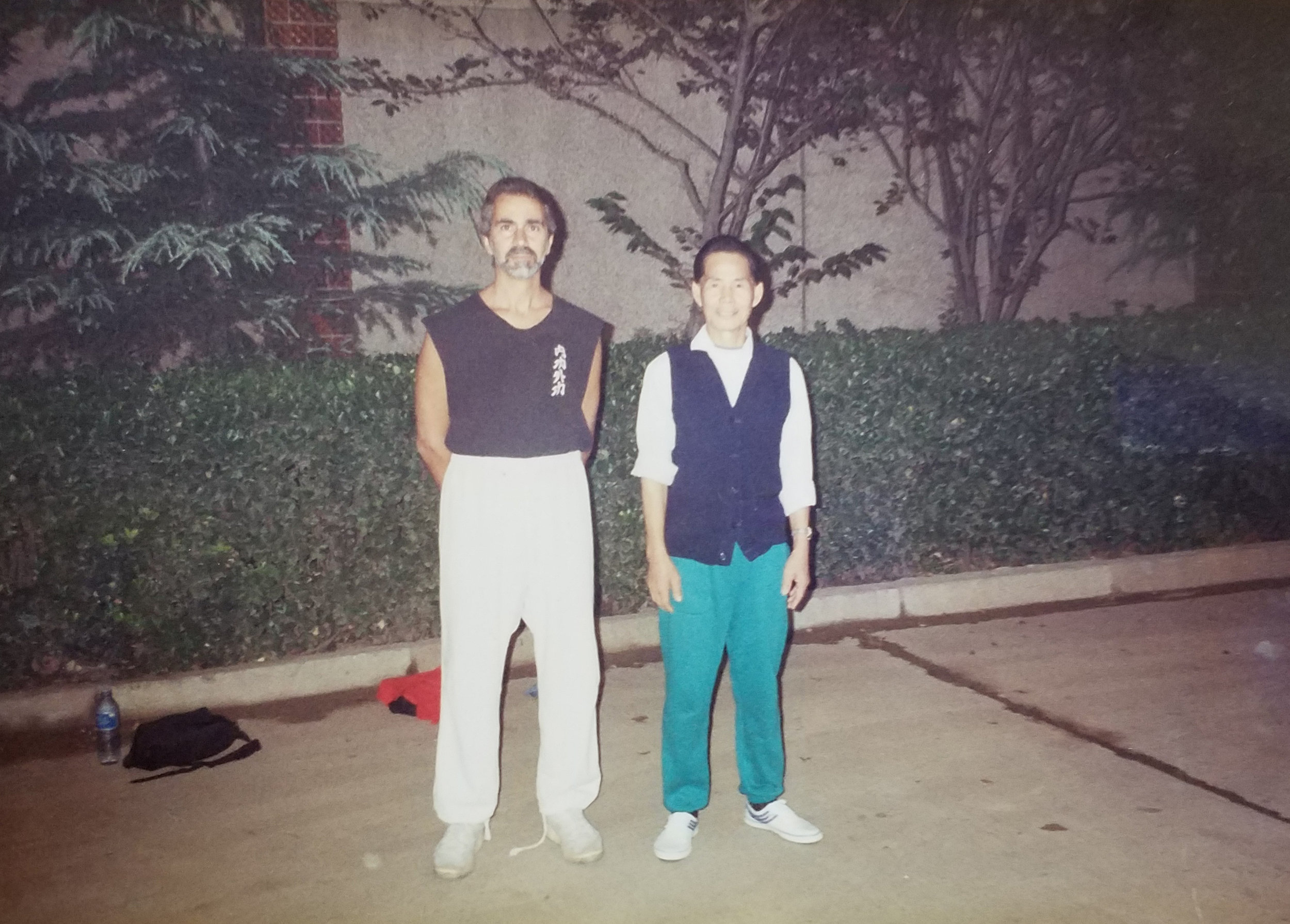 Master Paolillo with Master Hing Ling Kwan during one of their Baguazhang training sessions in Zhengzhou, China, 1993.