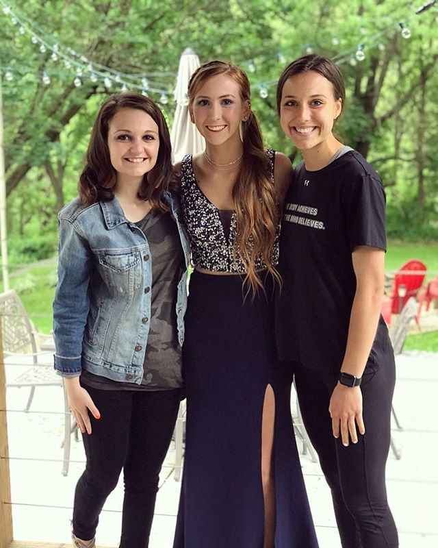 My pretty sister 😍 Happy senior prom @kayla_hatmaker7 ❤️