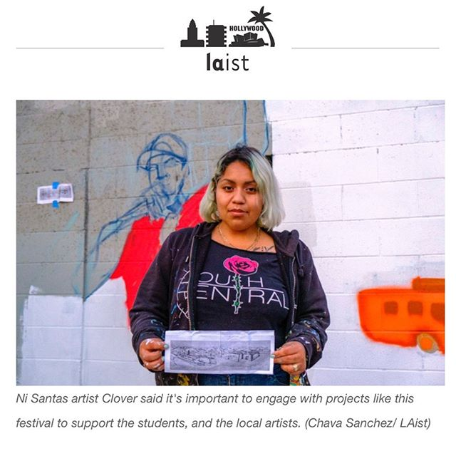 Check out this nice little write up @carlamjavier did for @laistpics/ @kpcc on the Maya Angelou Mural Festival. We only included the parts where Ni Santas are mentioned. If you want to read the whole article click on the link in bio or here it is: bit.ly/laistm  #mayaangeloumuralfestival #southcentral #losangeles #art #woc #poc #artists #mural #arte