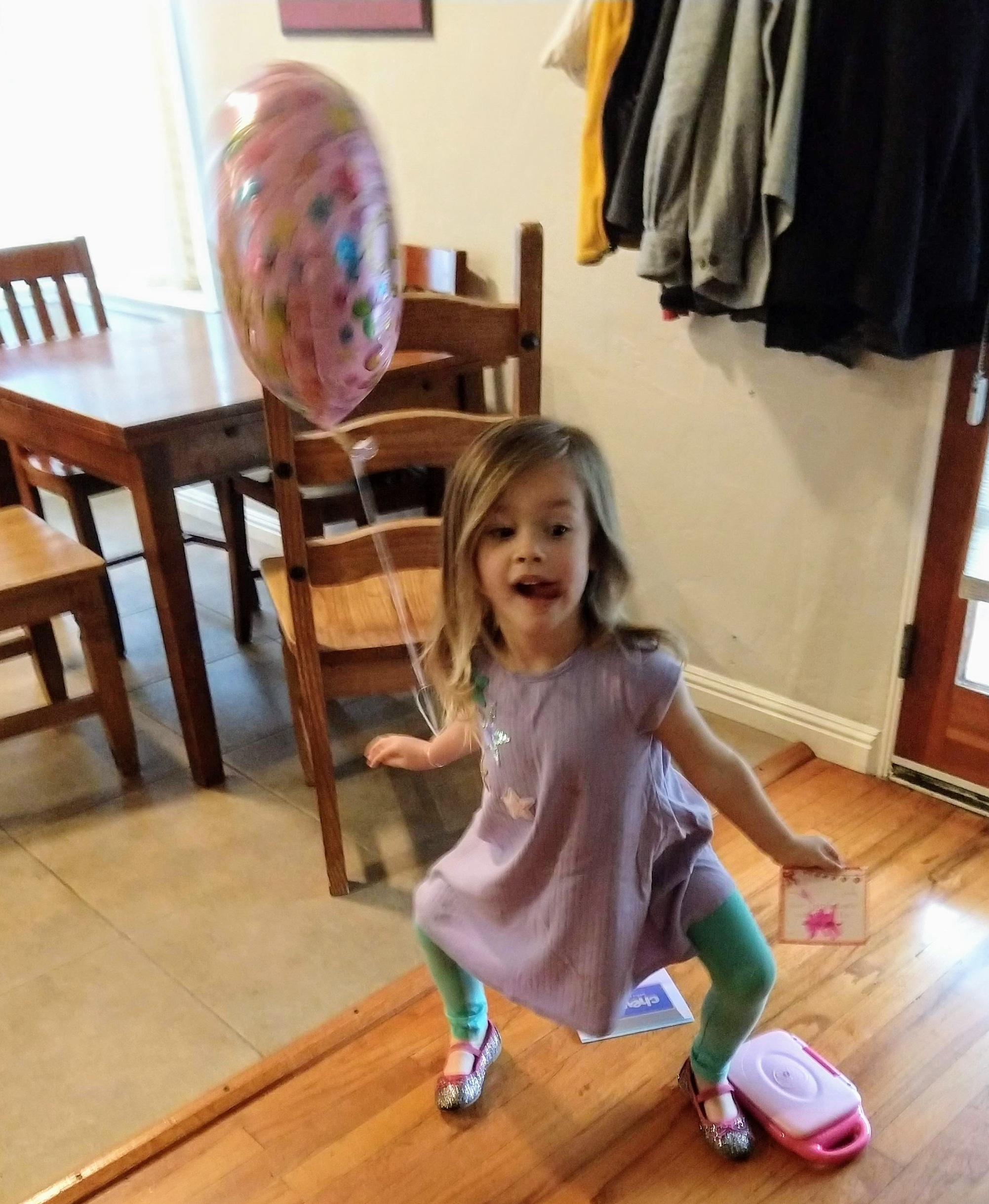 Lucy practices wide ballet second position :)