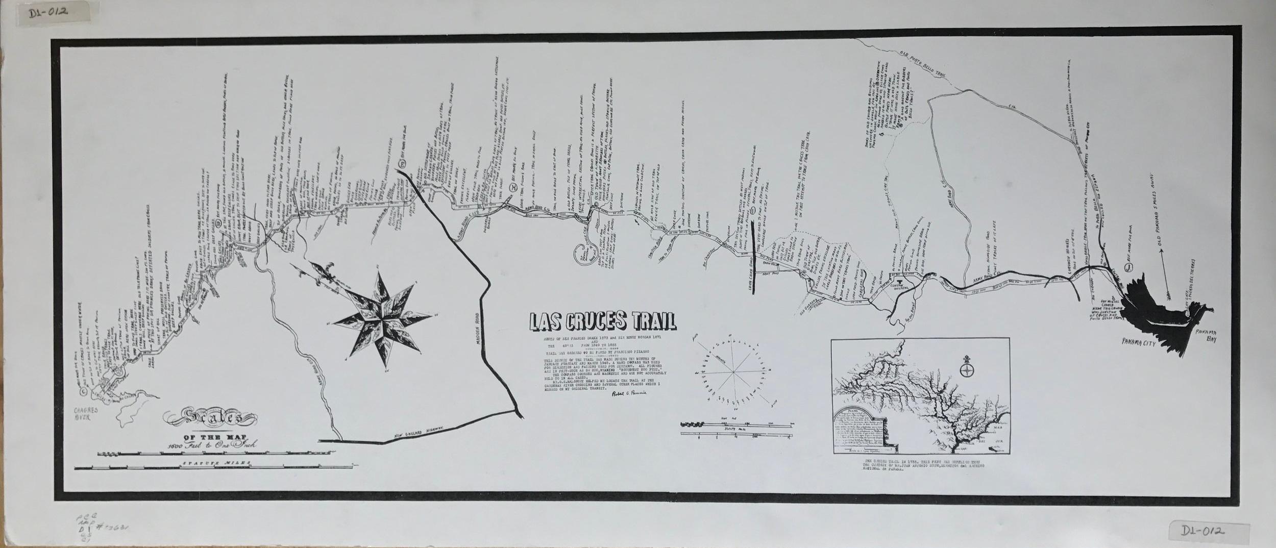 Mapa cortesía de la Biblioteca de la Autoridad del Canal de Panamá.