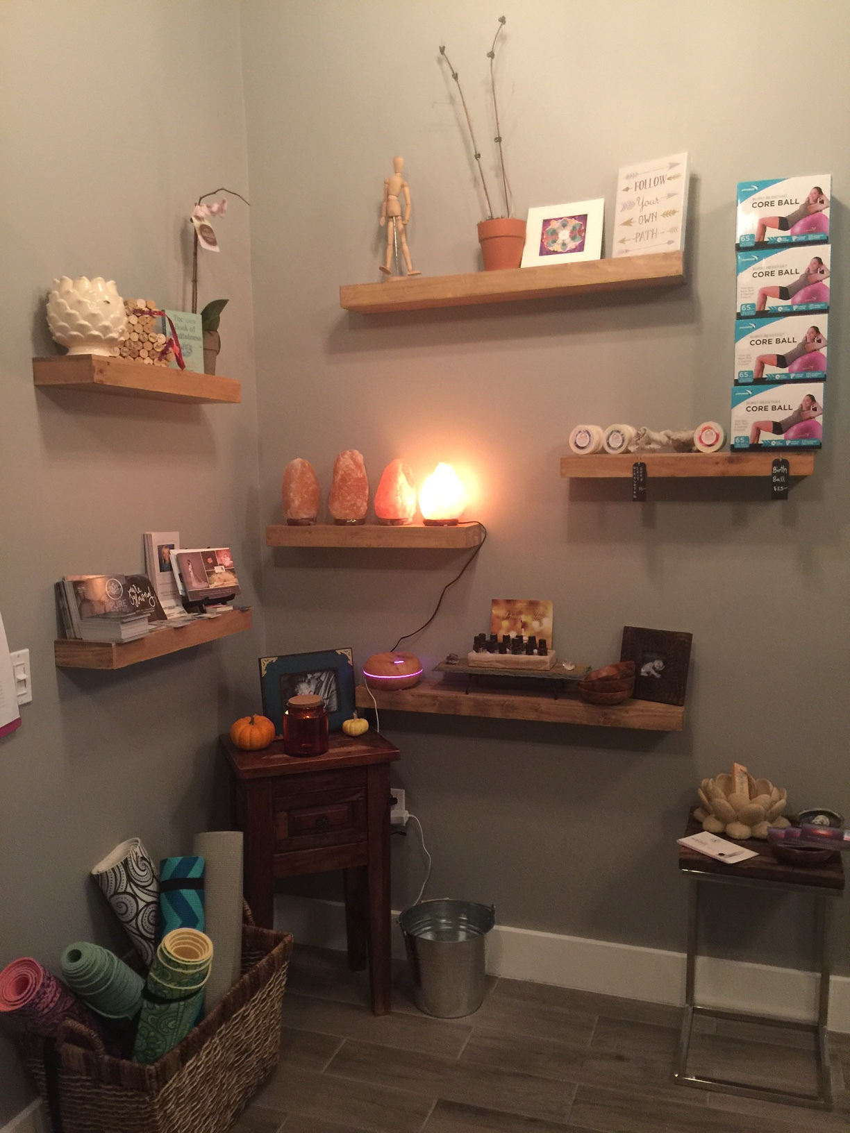Pure Births offers retail area to our patients so they can purchase supplements, birth balls, and more! -