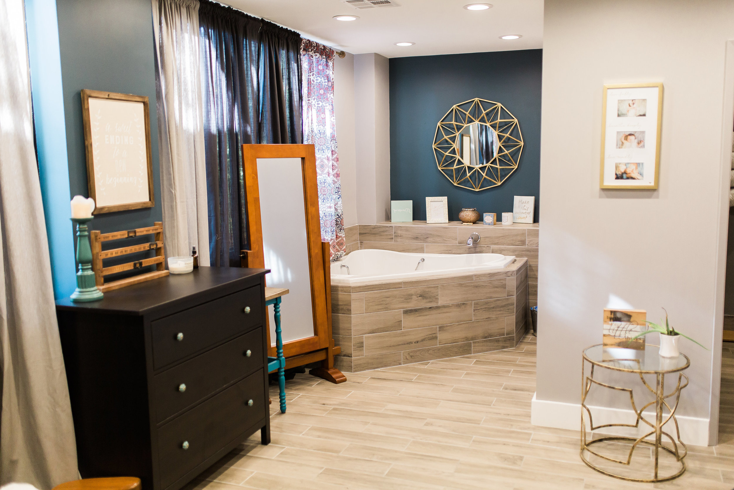Our Birth Suites are gorgeous with all the amenities to provide comfort during your birth experience with us! -