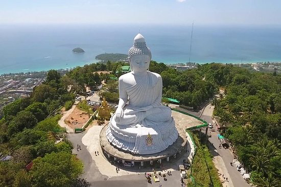 Big Buddha - The island of Phuket is known for its stunning white-sand beaches but the island is also bursting with culture and history. Take a guided tour around the island to discover some of its most beautiful beaches, Siamese architecture, Buddhist temples, and the Big Buddha made of marble.
