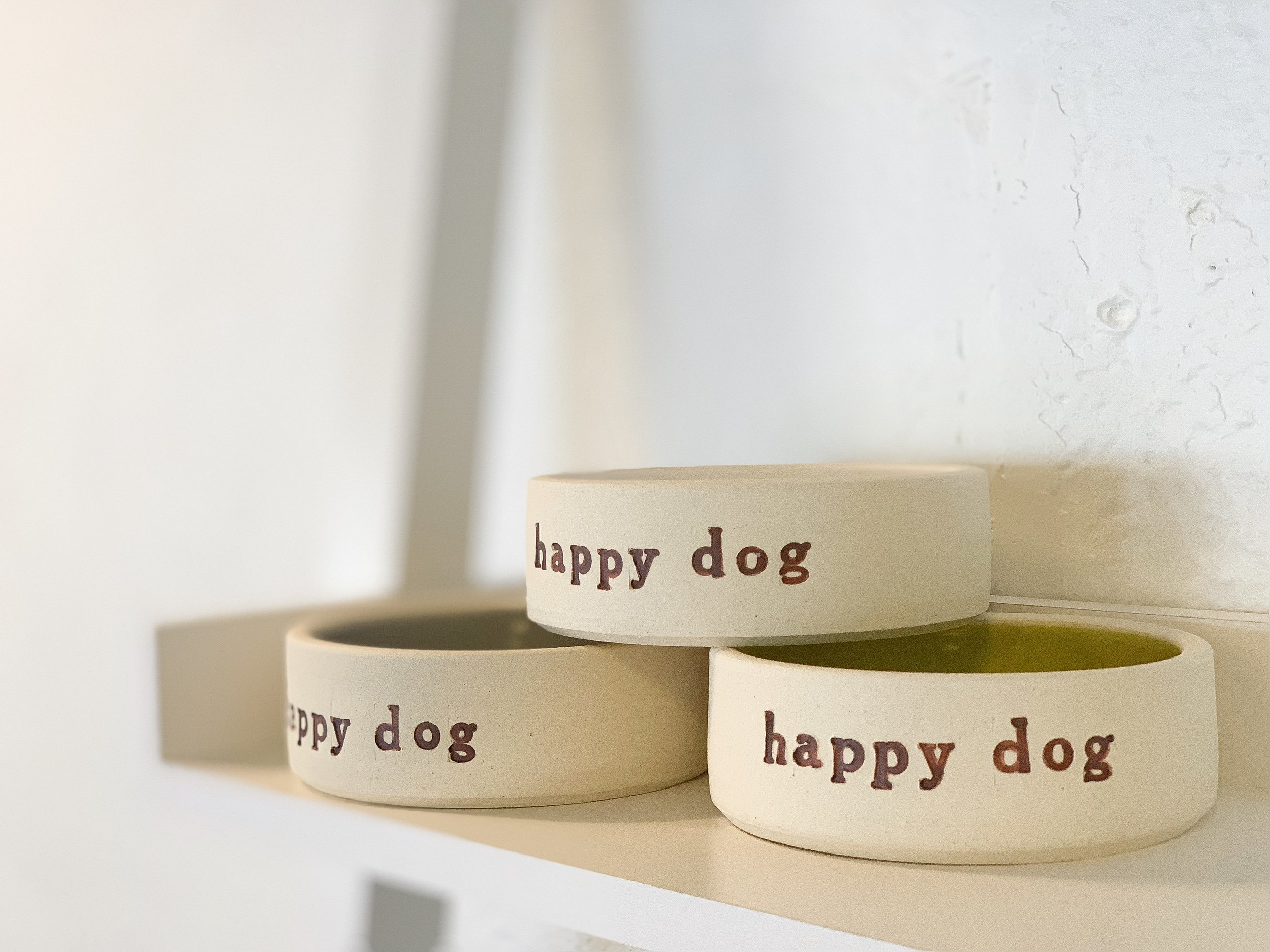Dog bowl - $20 (S) or $30 (L)
