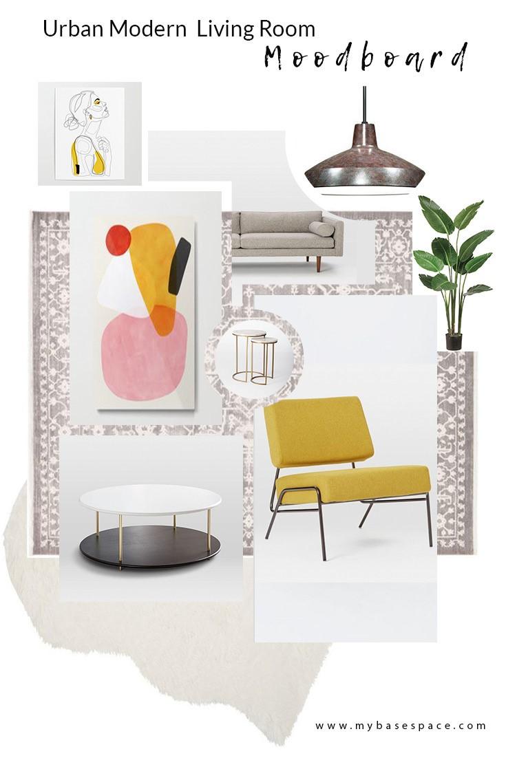 Living Room Mood board - My Base Space