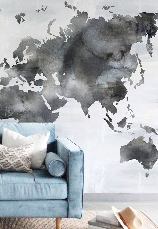 Painted Wall Map $515.87