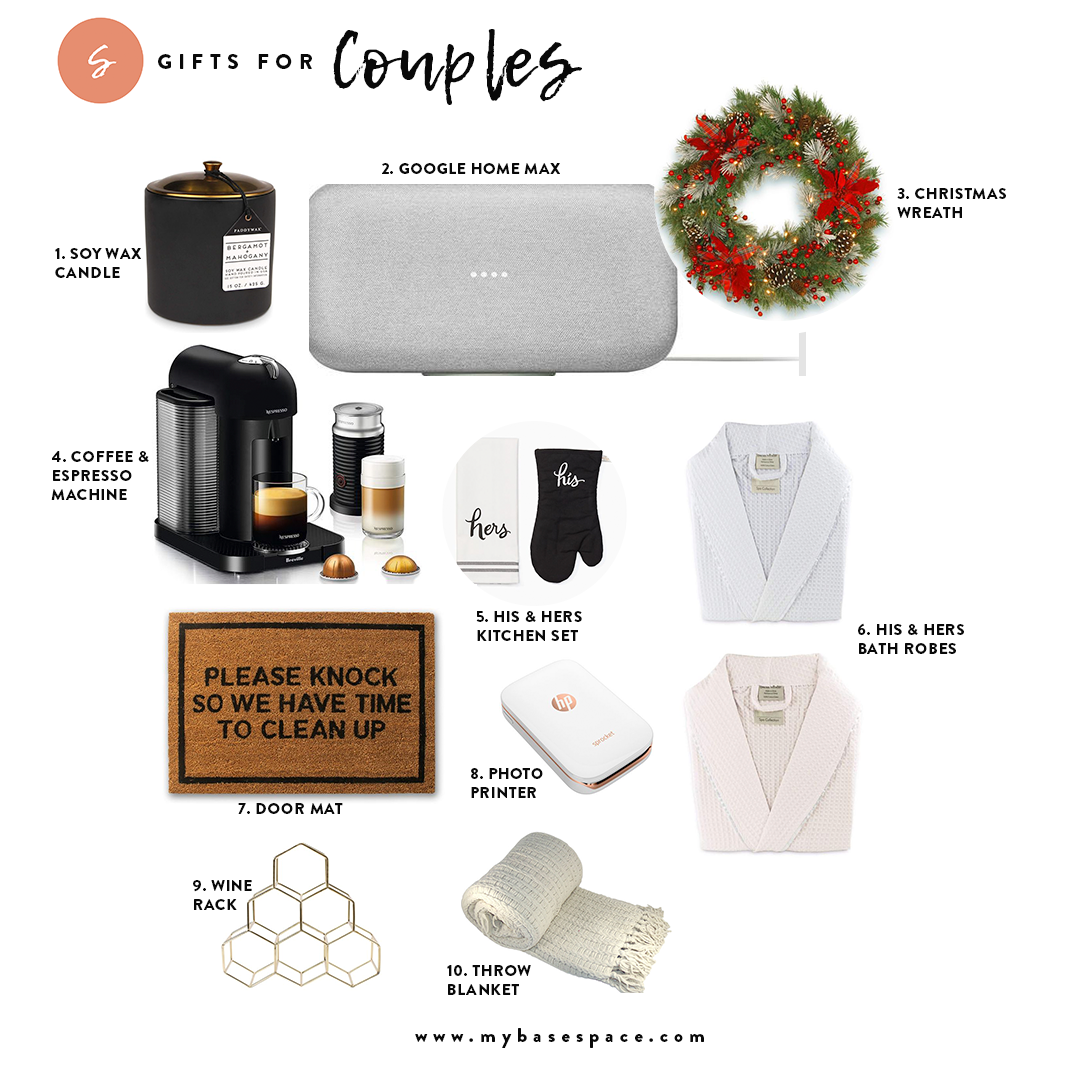 Holiday Gift Guide for Couples | My Base Space