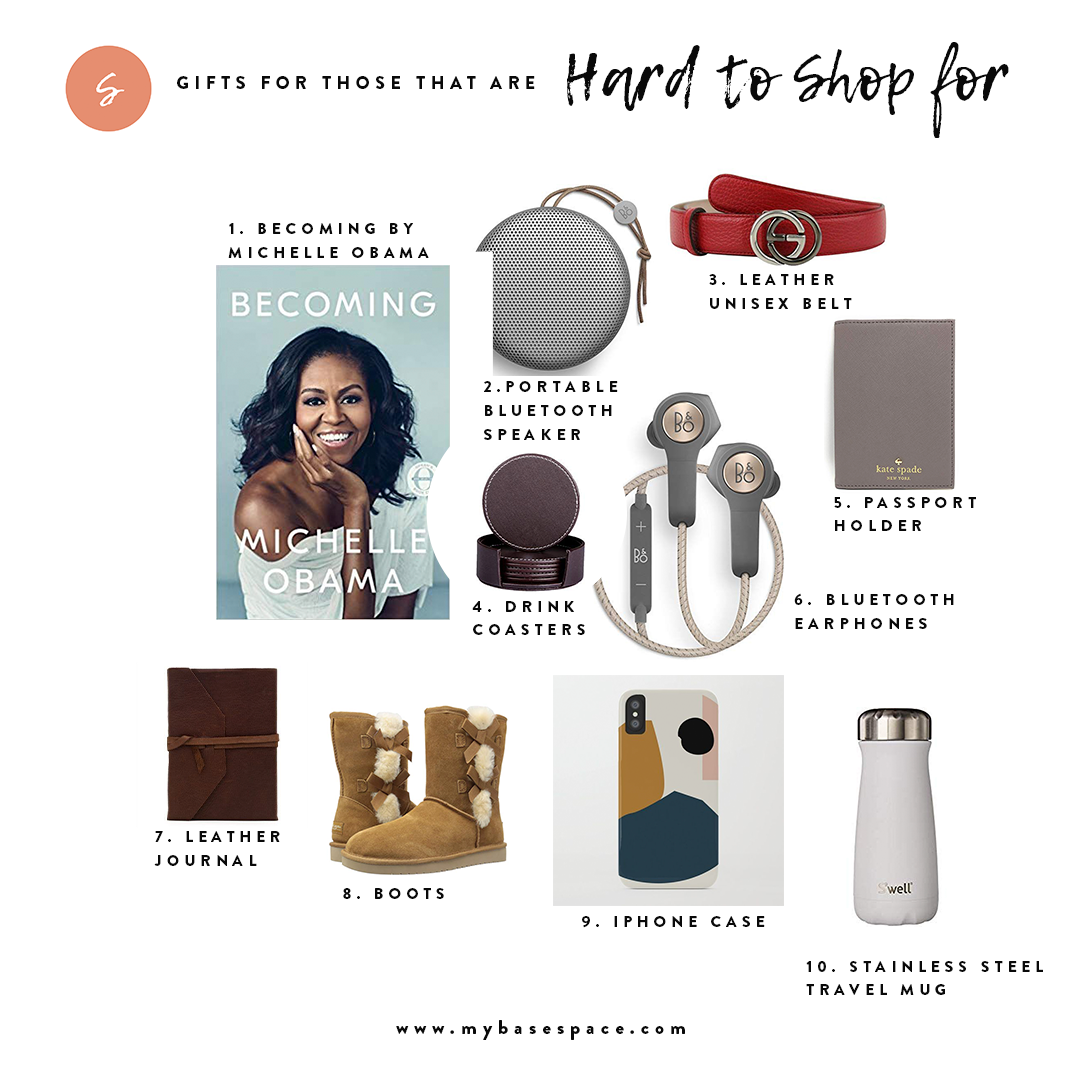 Holiday Gift Guide for Those that Are Hard to Shop For | My Base Space