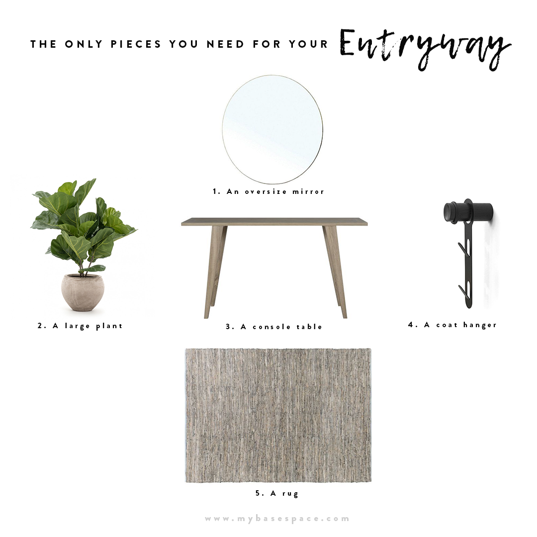 The Only Pieces You Need for Your Entryway | My Base Space