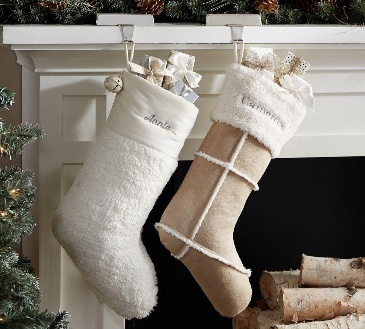 Faux Fur Sherpa Stockings