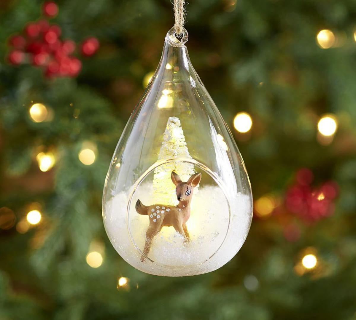 Lit Reindeer Ornament