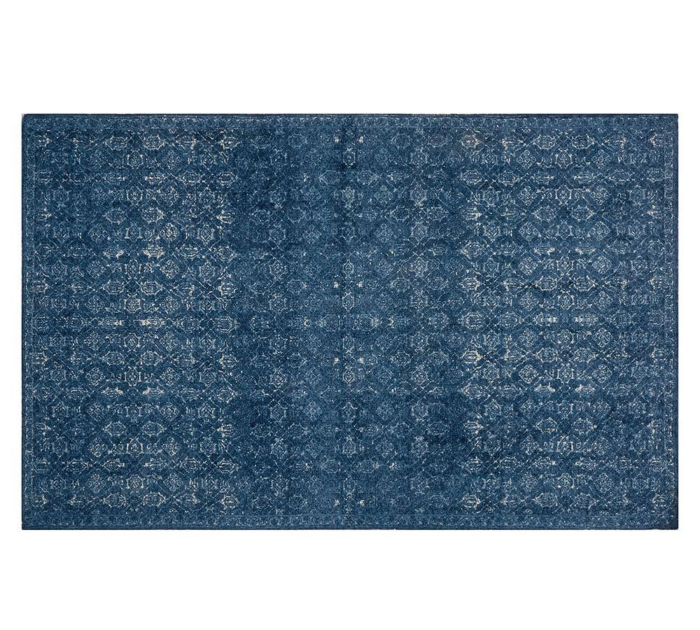 Printed Rug in Midnight