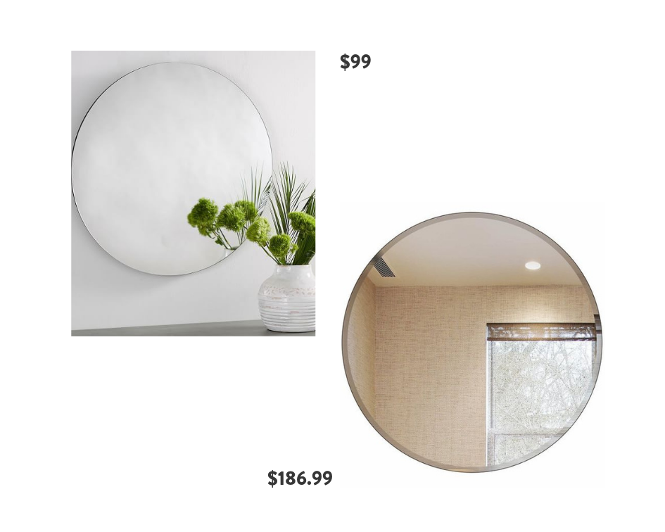 Seventh and Oak - Frameless Mirrors - Save or Splurge
