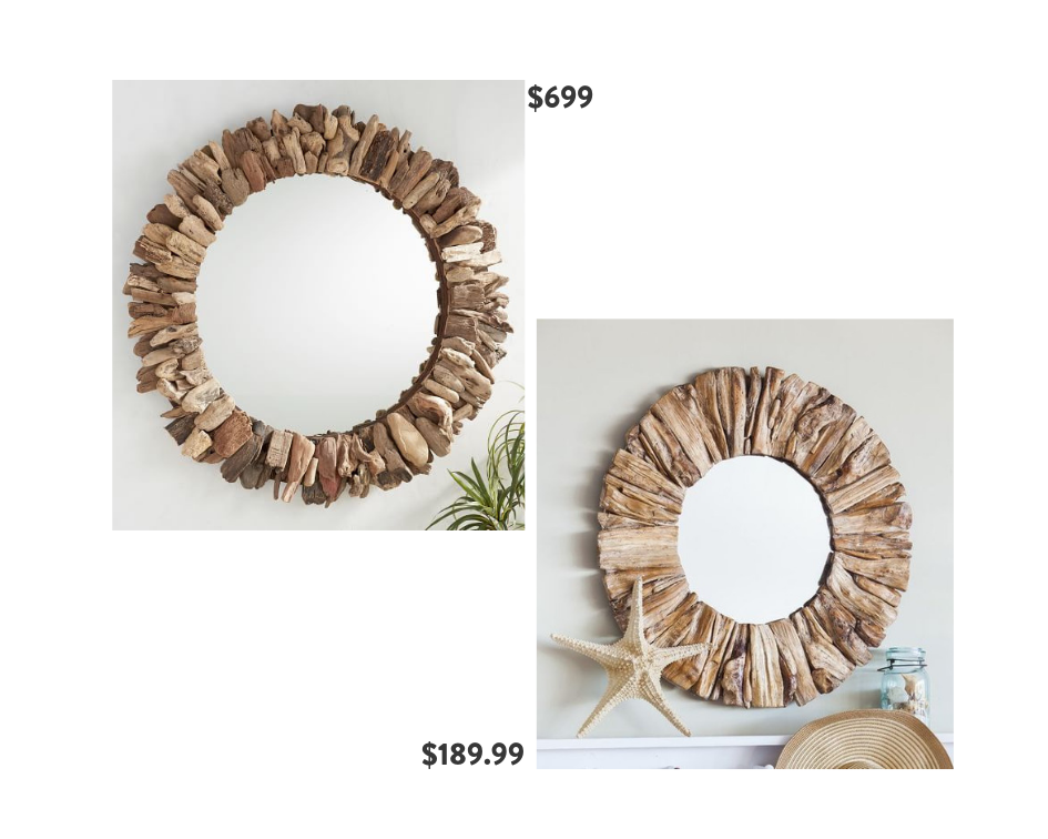 Seventh and Oak - Natural Mirrors - Save or Splurge