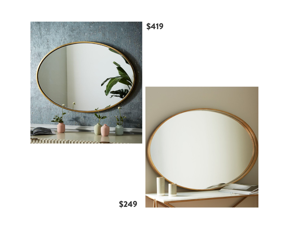 Seventh and Oak - Oval Mirrors - Save or Splurge