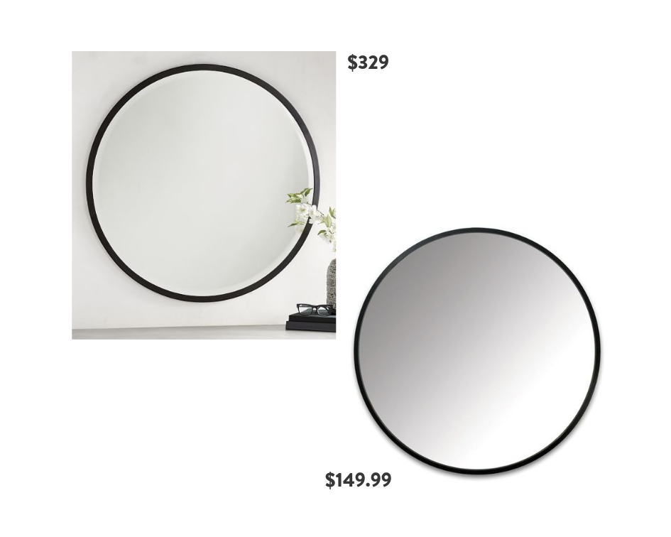 Seventh and Oak - Round Mirrors - Black Frame - Save or Splurge
