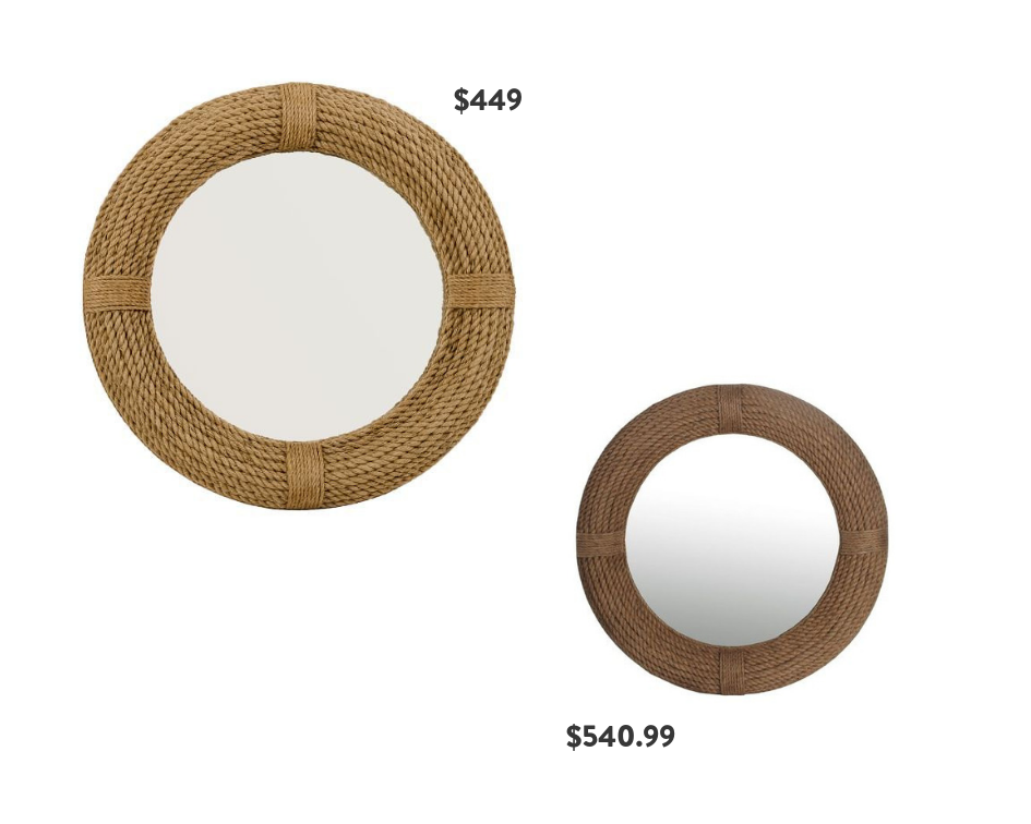 Seventh and Oak - Round Mirrors - Rope Frame - Save or Splurge
