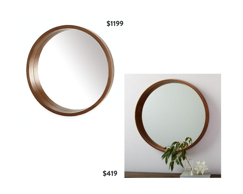 Seventh and Oak - Round Mirrors - Wood Frame