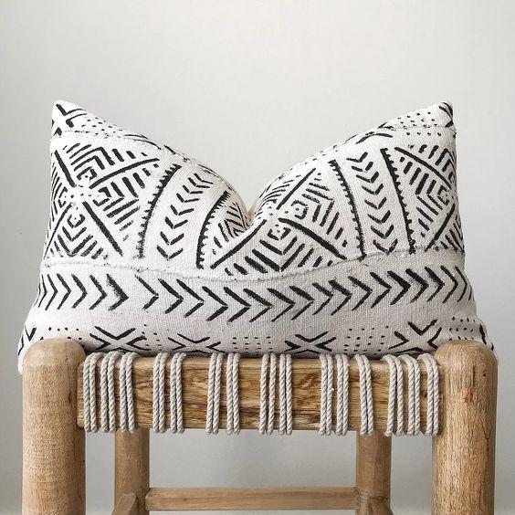 Get the look - A Modern Scaninavian Entryway - African Mudcloth Pillow.jpg