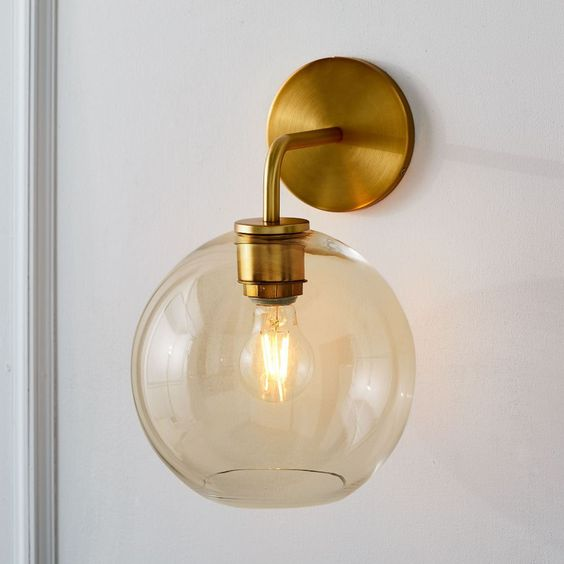 Sculptural Glass Globe Sconce (Small) -   Was $111, Now $88
