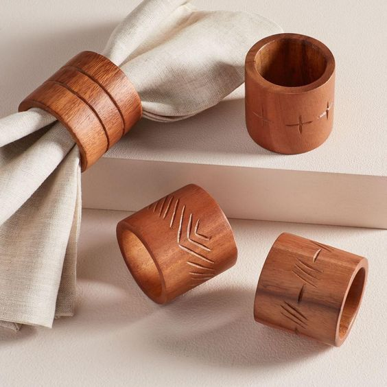 FEED Wood Napkin Rings (Set Of 4) -   Was $39, Now $29.99