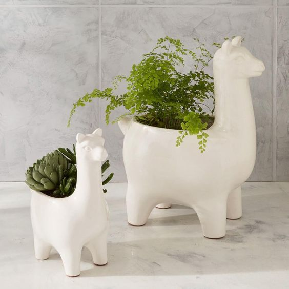 Ceramic Llama Planters -   Was $69, Now $39.99
