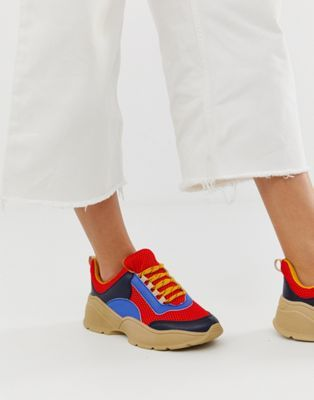 Seventh and Oak - Spring Wish List - Monki Colorblock Sneakers ASOS.