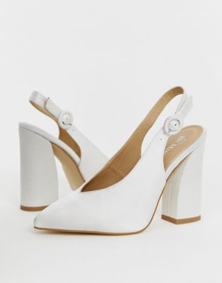 Seventh and Oak - Spring Wish List -White block heels ASOS.