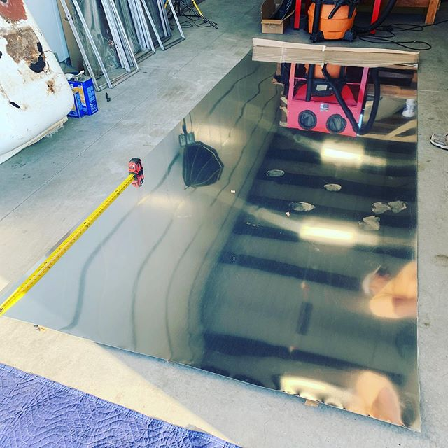Getting the new curbside panel all cut and fit into place last night! Fits like a glove. 😉 On to drilling, sealing and riveting! . . . . . #tinyhouse #renovation #homeiswhereyouparkit #airstreamlife #camper #camping #airstreamdreams #tinyliving #nature #travel #fulltimerv #rv #airstream #homeonwheels #vintagetrailer #airstreamrenovation #wanderlust #gorving #adventure #vanlife #traveltrailer #rvlife #roadtrip #liveriveted #diy #glamping #vintageairstream #tinyhome #airstreamliving #rvliving