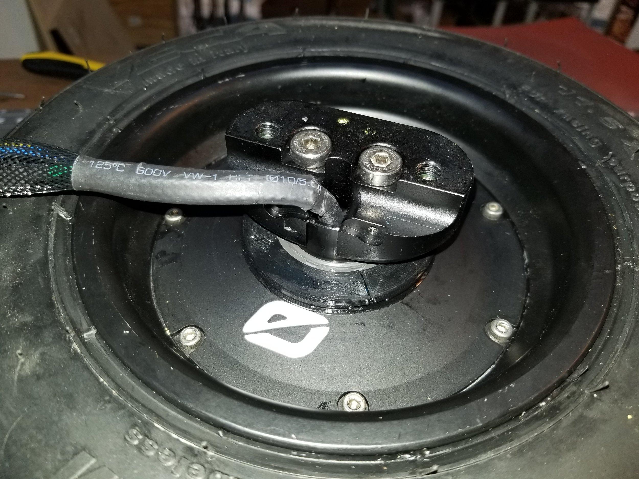 Axle caps back on