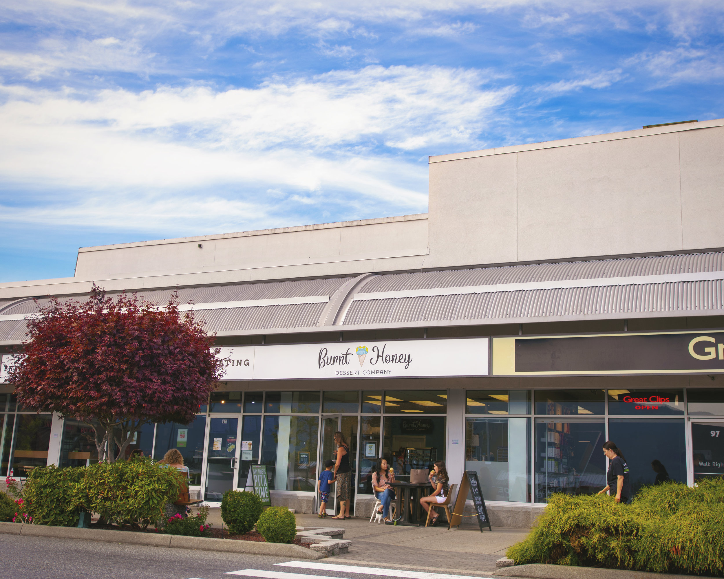 Come on in! - We look forward to hosting you at Burnt Honey!We are located at 96 - 3200 North Island Highway at Country Club Centre in Nanaimo, British Columbia.Our current hours are:Monday: 12pm-7pmTuesday: 12pm-7pmWednesday: 12pm-7pmThursday: 12pm-7pmFriday: 12pm-9pmSaturday: 12pm-9pmSunday: 12pm-7pmHope to see you soon!