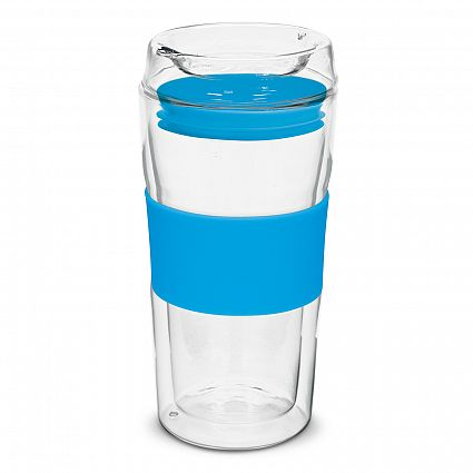 Divino Double Wall Glass Cup  Many other reusable coffee cup styles to choose from  No Minimum order quantity.  Contact for quote