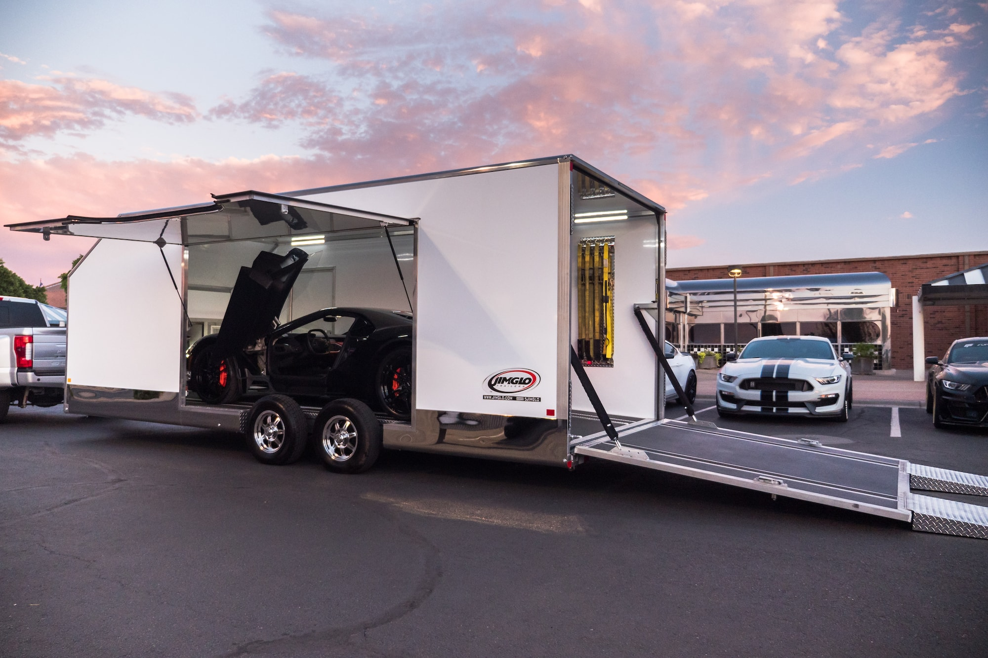 enclosed car trailer with escape door and removable fender \u2014 jimglo