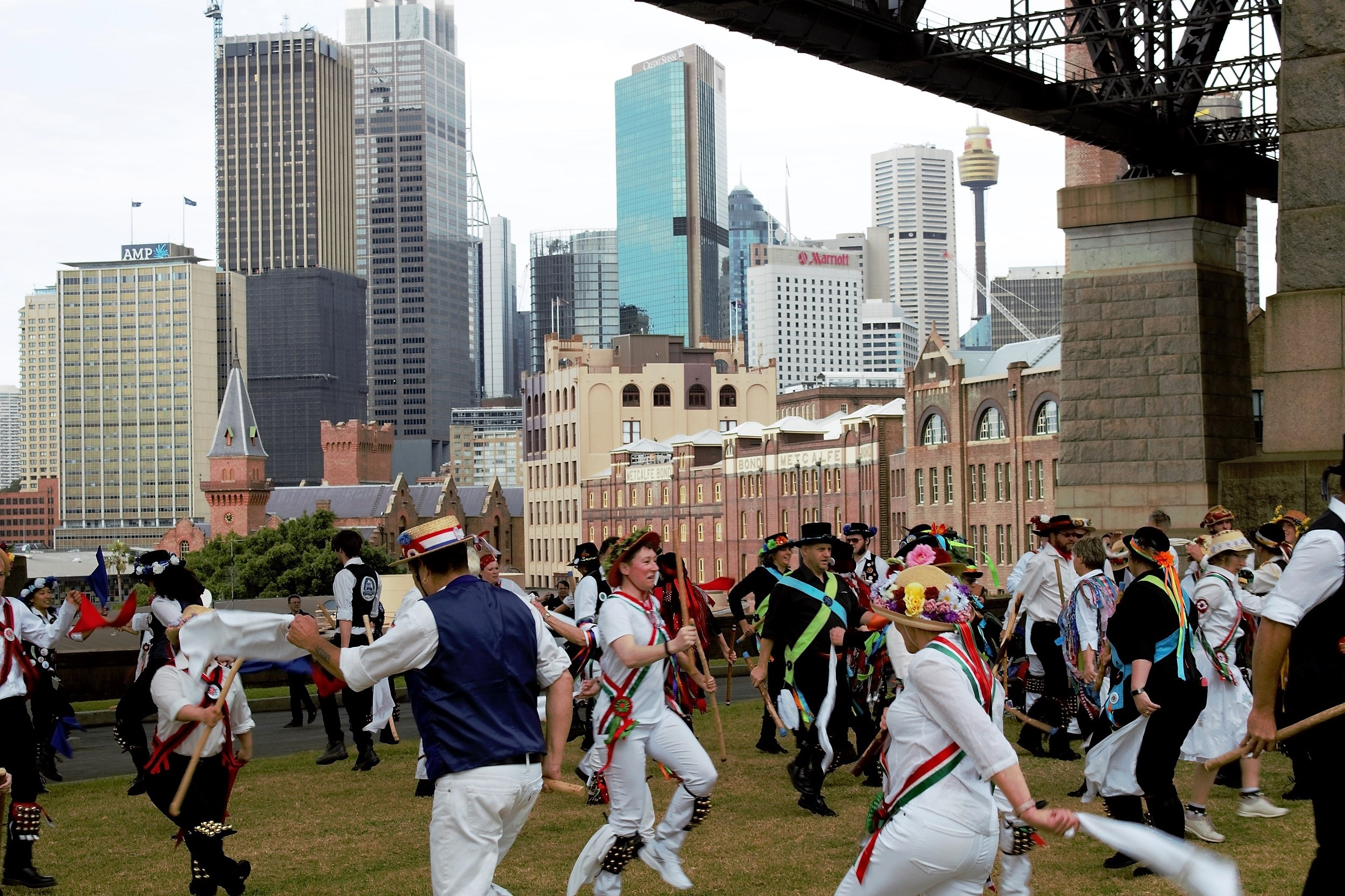 Morris Dancing under the Sydney Harbour Bridge