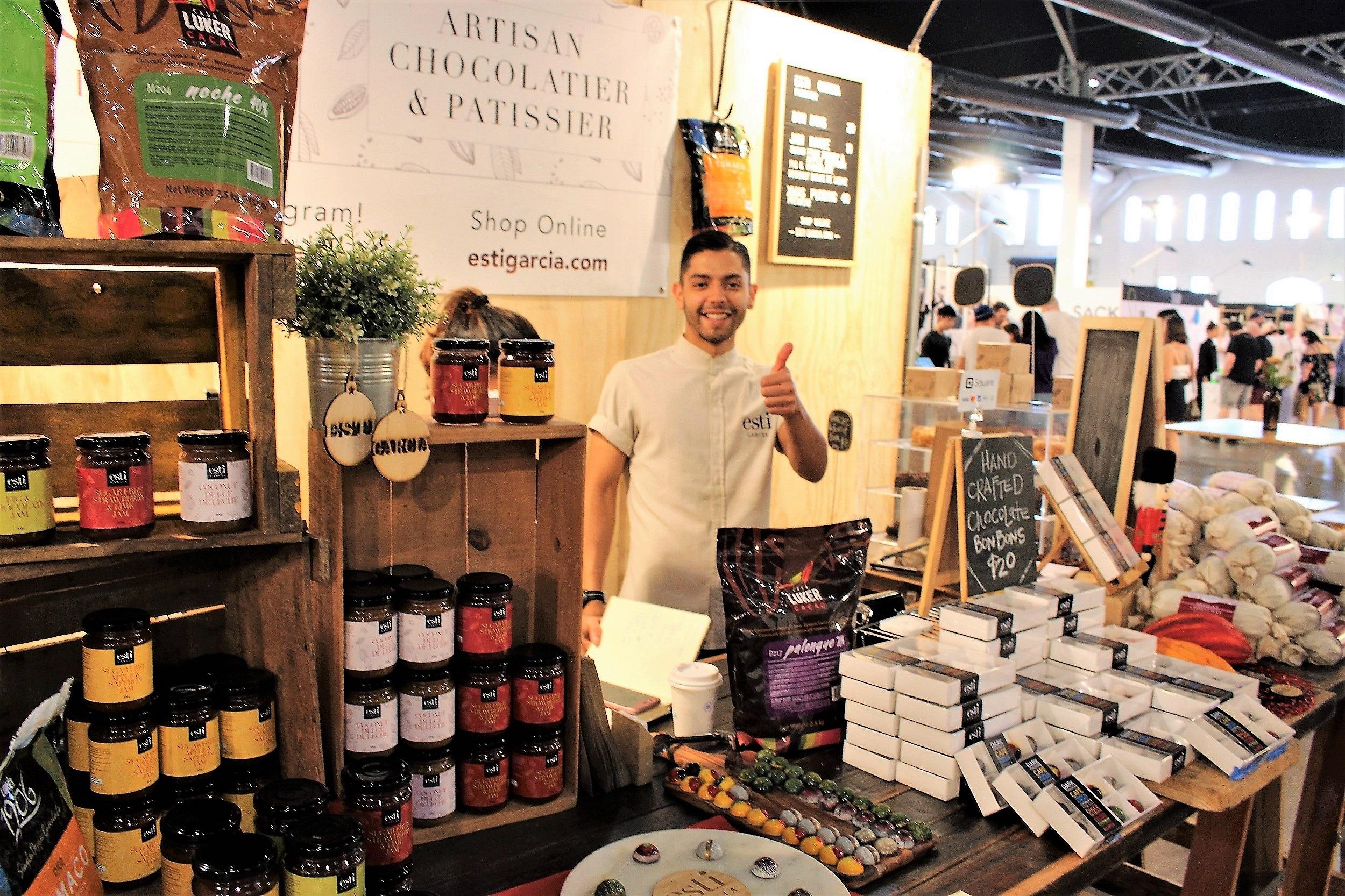 Artisan chocolatier/patissier Esti Garcia and his exquisite products