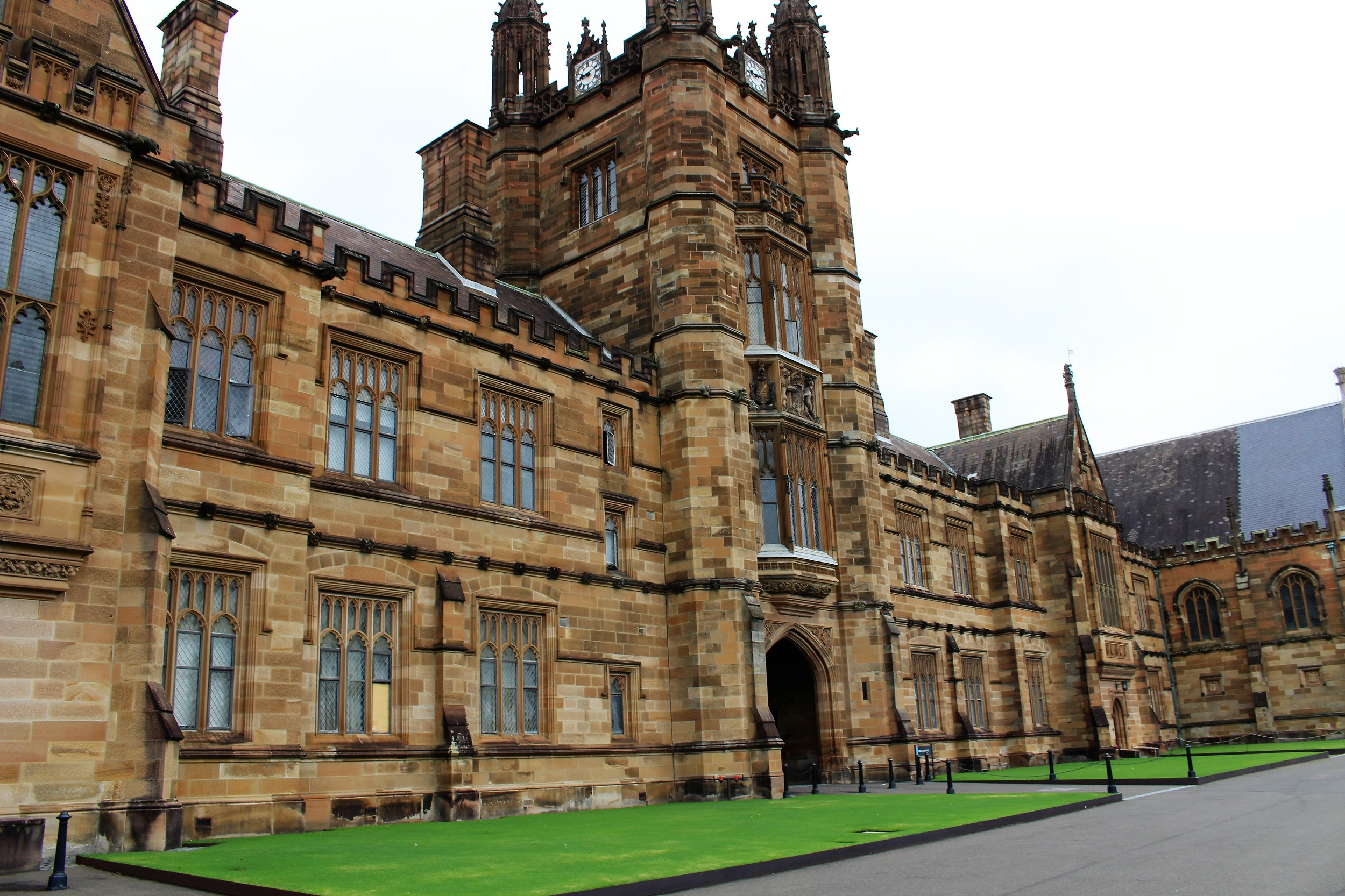 Sorry but Harry Potter was not filmed here - entrance to the Quadrangle at Sydney University