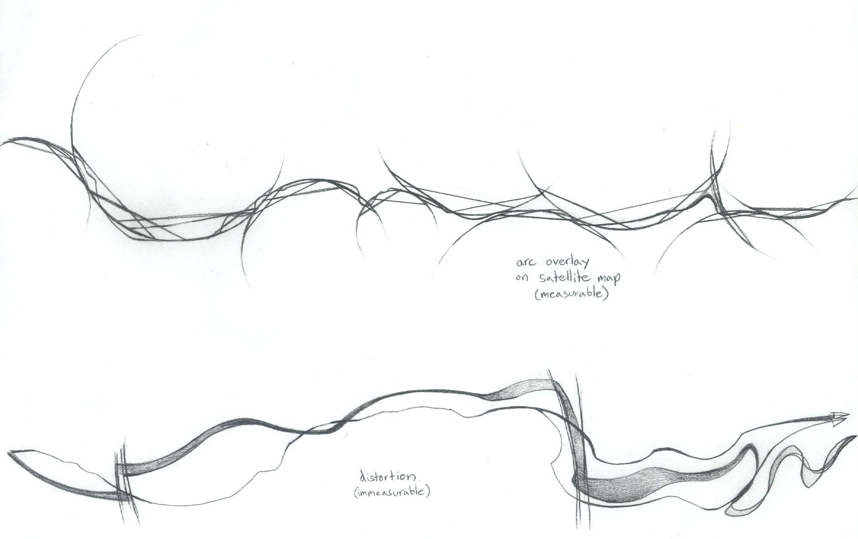 """""""Cascadilla"""" (1999). Graphite on paper."""