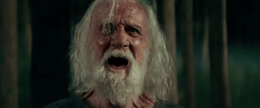 "Old man who has given up and lets it all out in ""A Quiet Place""."