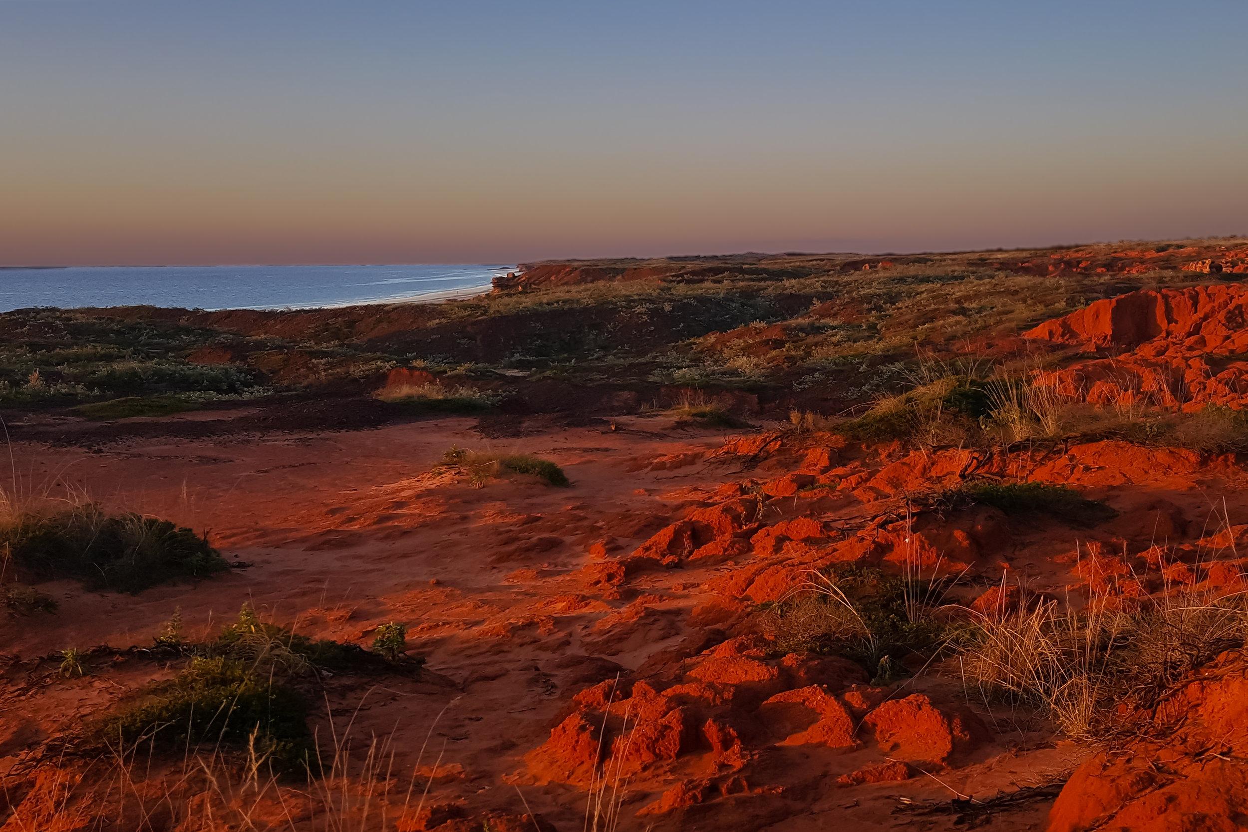 Where the pindan meets the sea. Barn Hill Station- Western Australia.