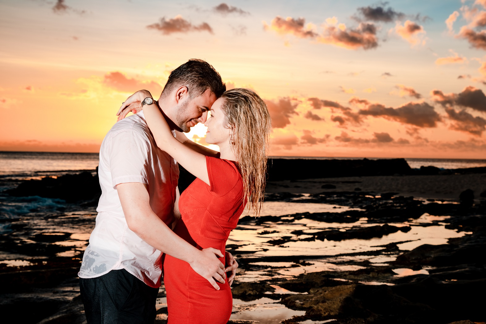 A romantic and intimate pose...