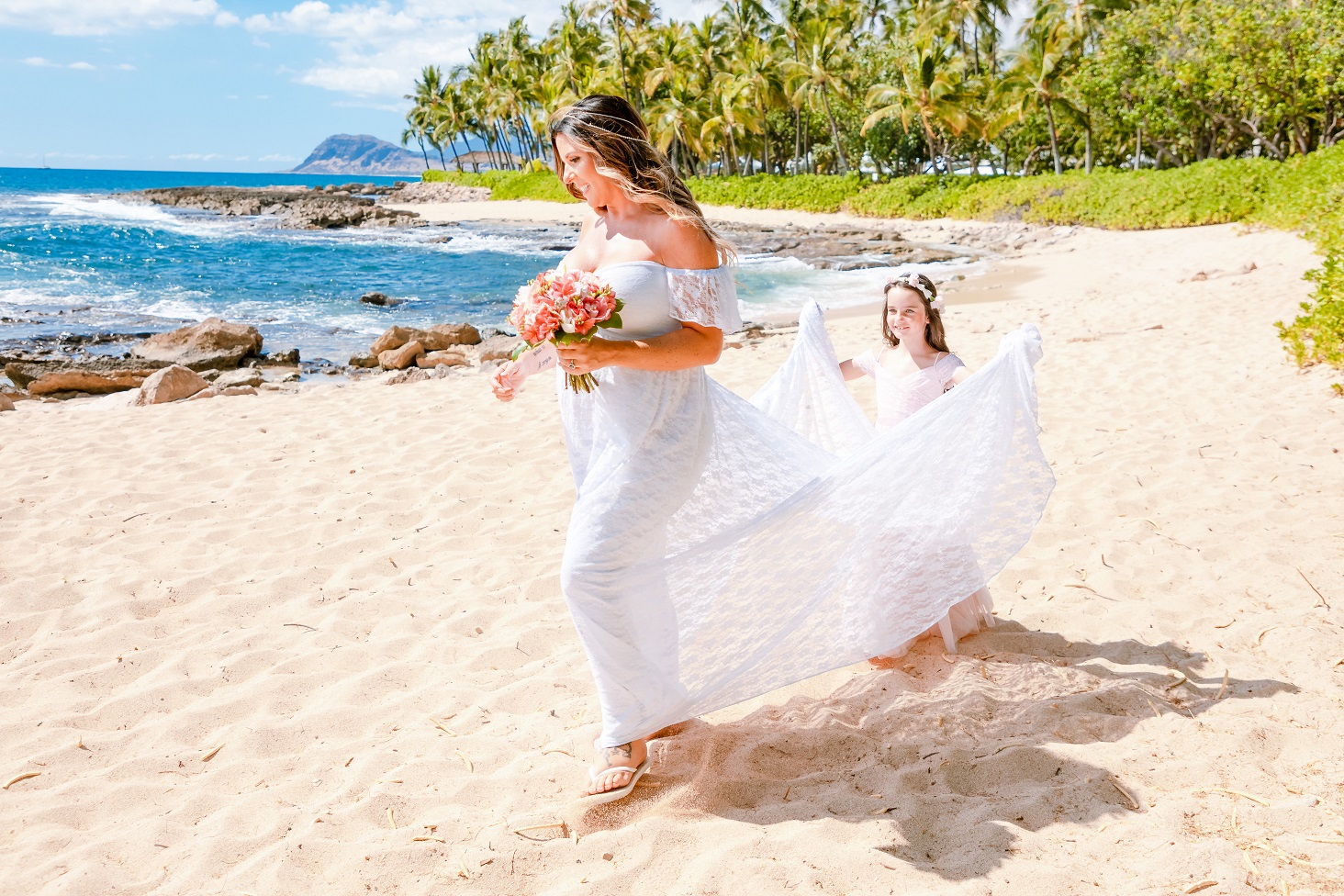 beach wedding elopement ko olina oahu