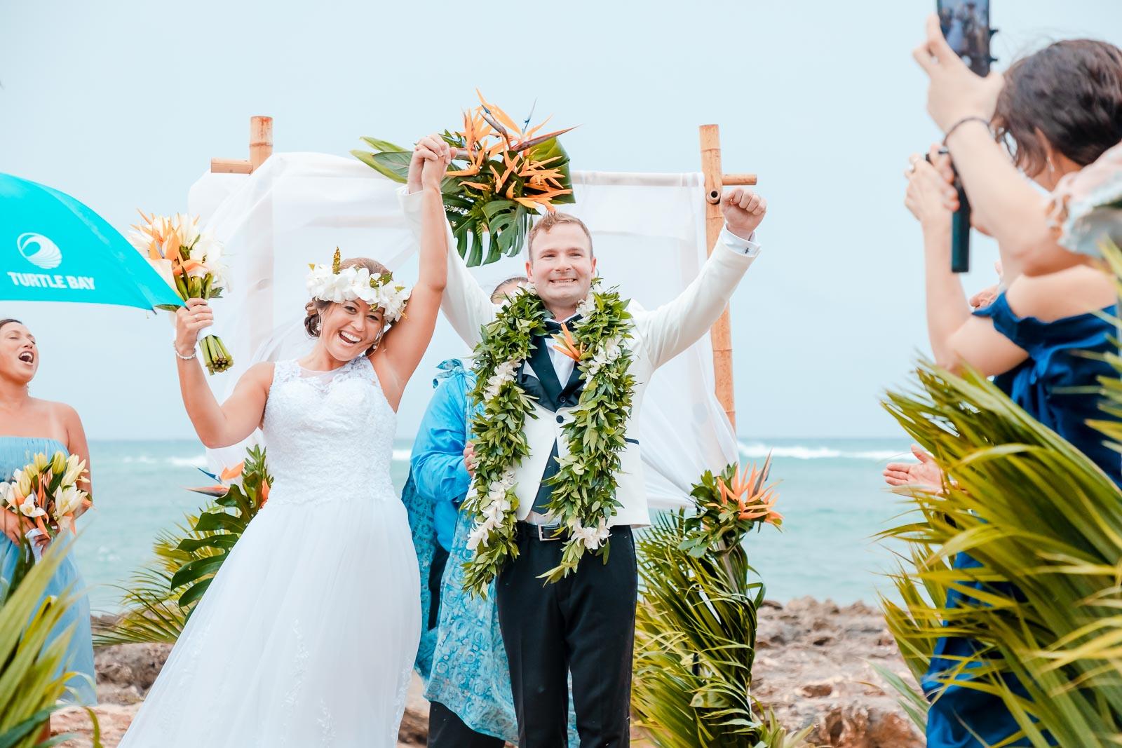 bride groom wedding celebration kiss maui beach